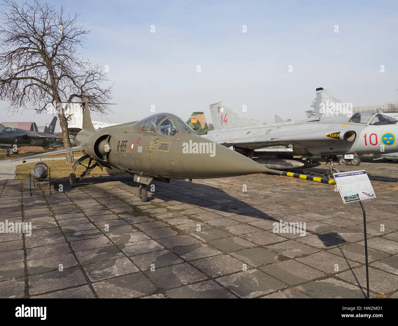 Canadair CF-104 Starfighter at the Polish Aviation Museum Krakow in Poland - Stock Image