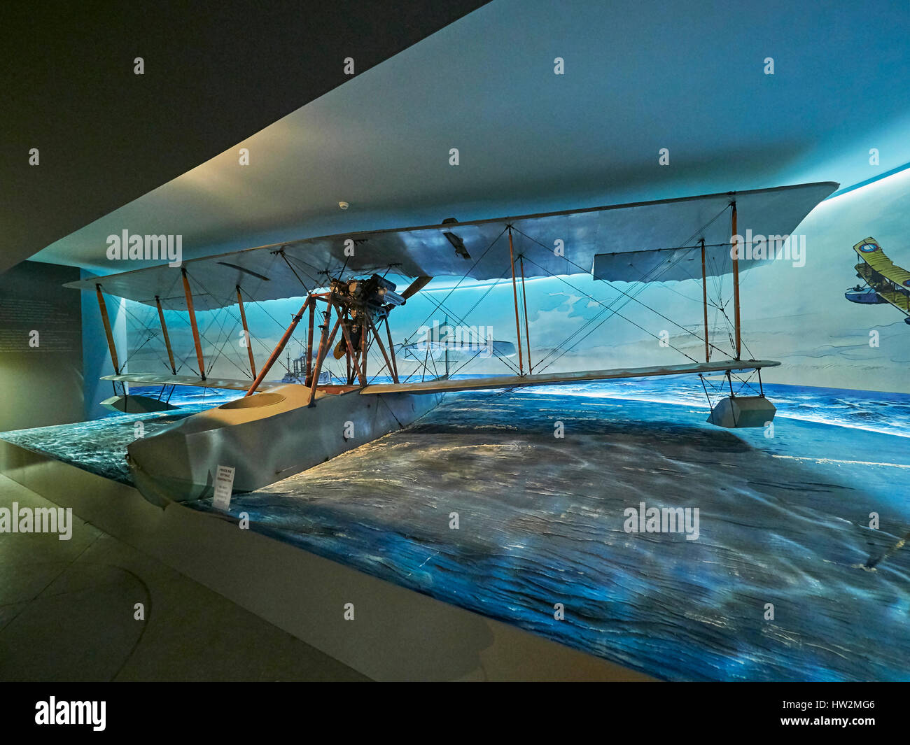 Grigorovich M-15 Russian WW I flying boat at the Polish Aviation Museum Krakow in Poland - Stock Image