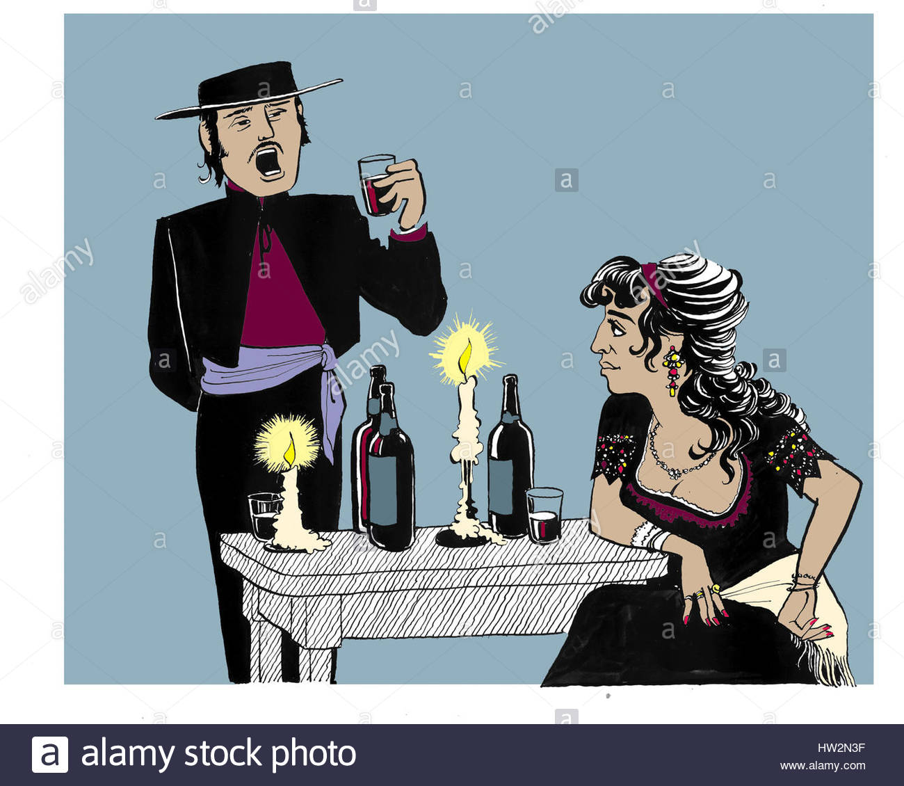 scene from bizet s opera carmen dinner scene with don jose and