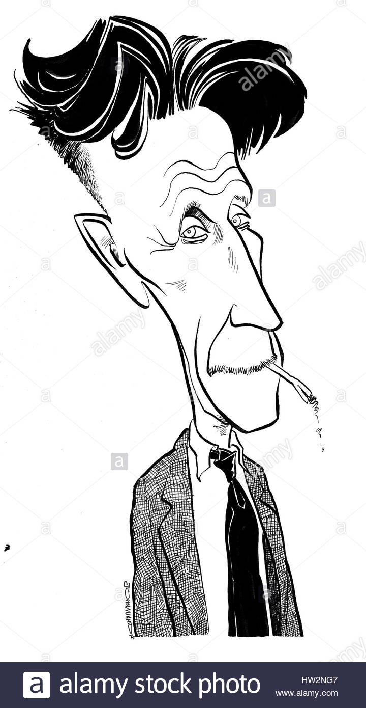 Cigarette Caricature george orwell - caricature, smoking cigarette. english author: 25