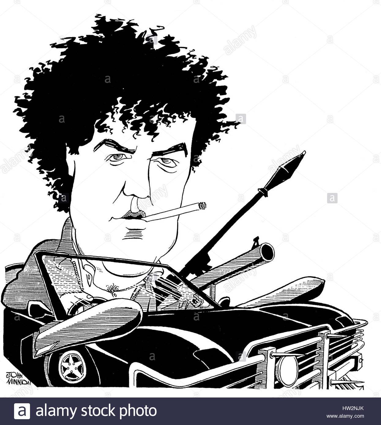 Cigarette Caricature jeremy clarkson, caricaturejohn minnion. jeremy clarkson drives