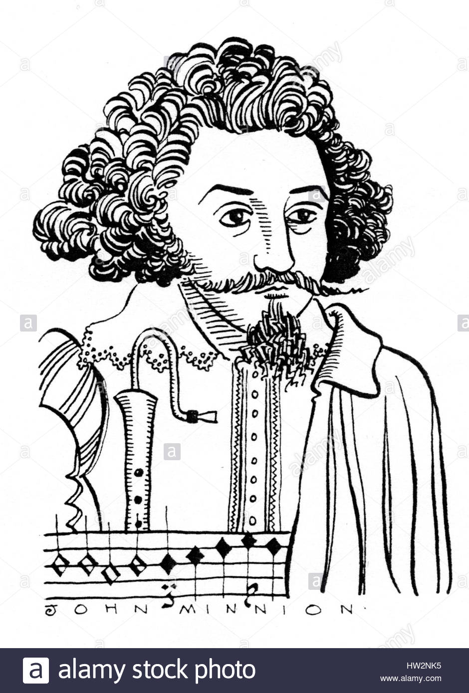 Michael Praetorius, 1571-1621. The greatest master of Protestant church music and the most distinguished writer - Stock Image