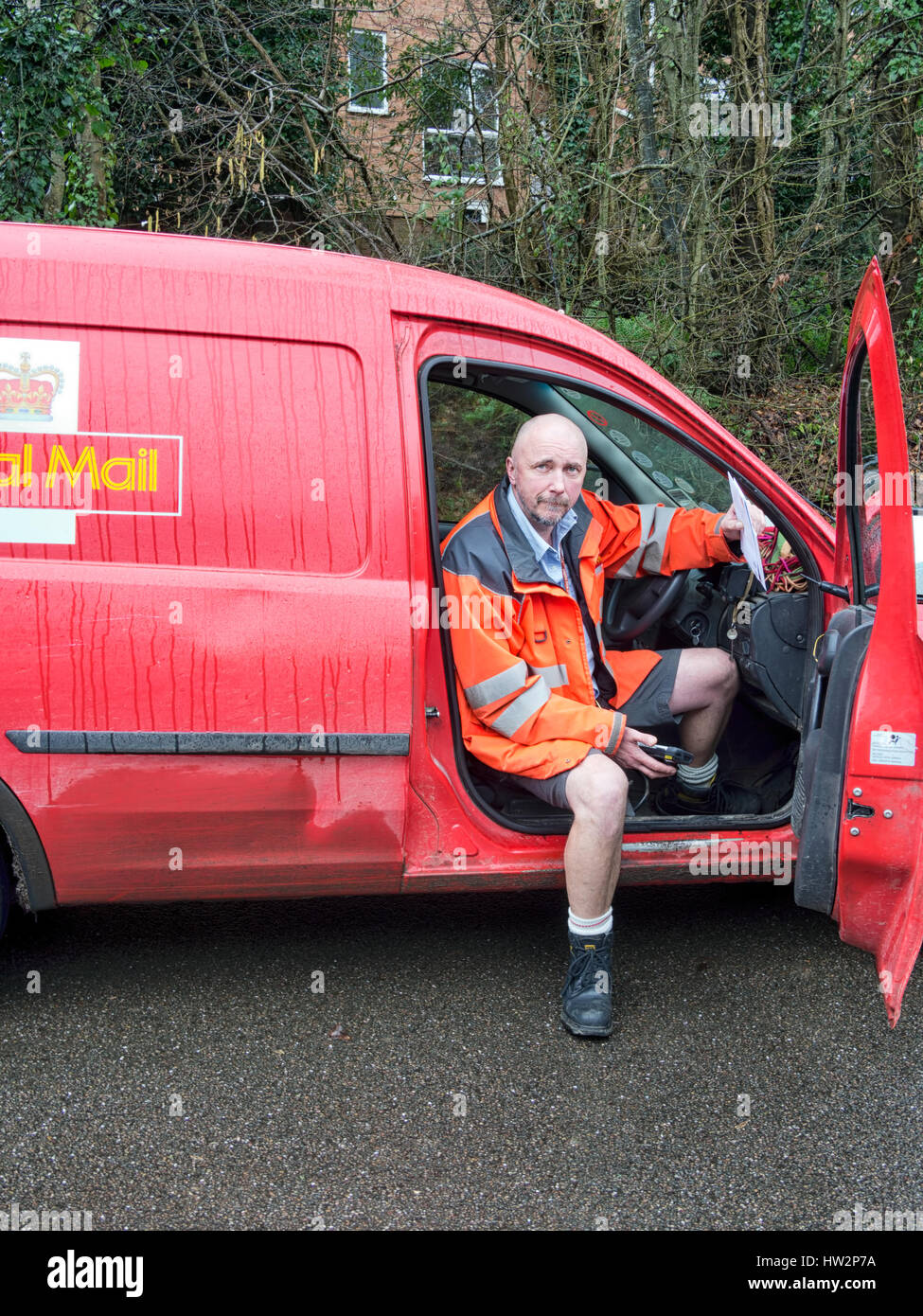 Postman, England, UK. - Stock Image