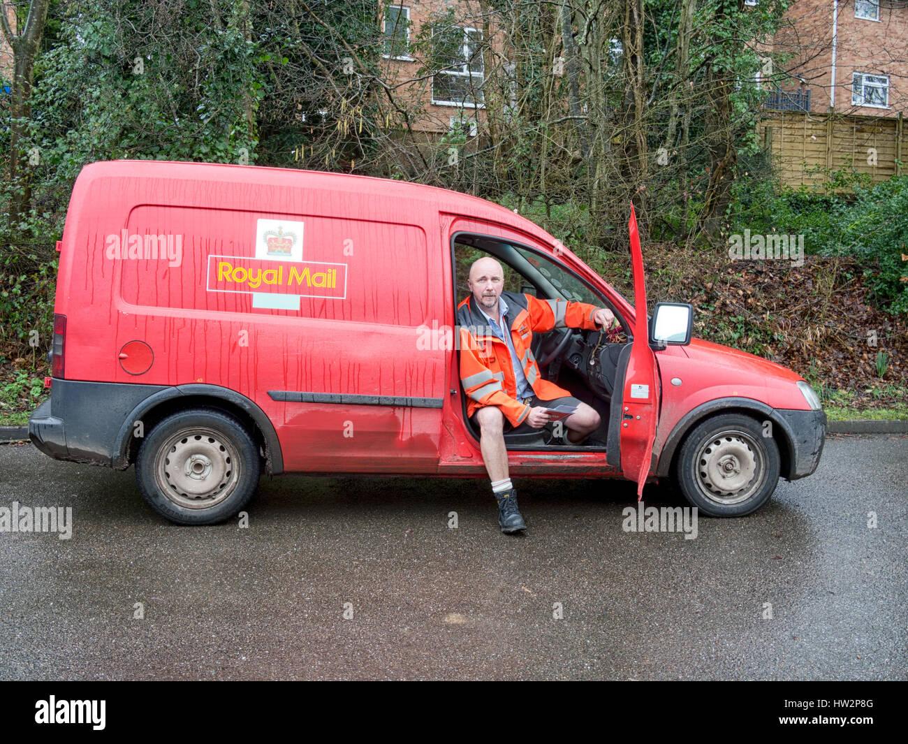 Rural postal service, England, UK. Royal Mail. - Stock Image