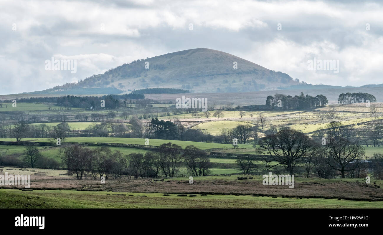 View of Great Mell Fell, from Troutbeck in The English Lake District,Cumbria - Stock Image