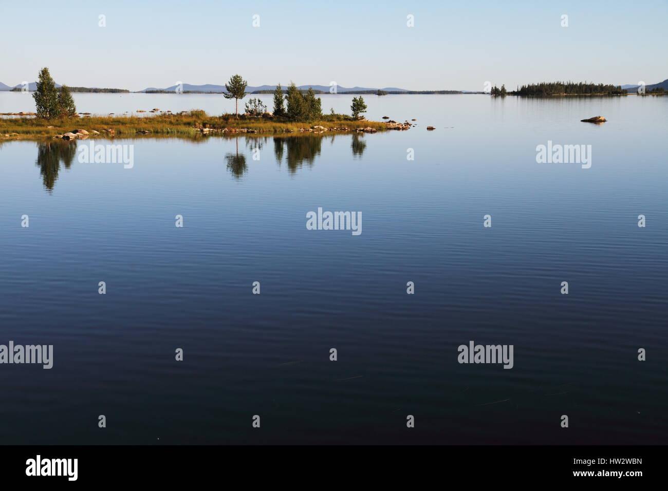 A summer landscape in Lappland, Northern Sweden - Stock Image