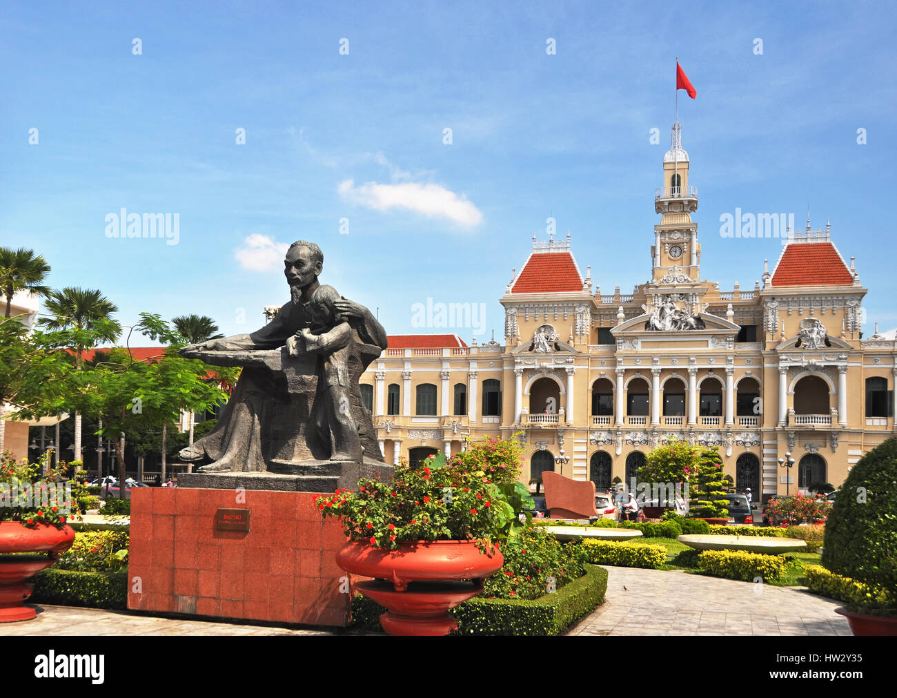 Ho Chi Minh City, Vietnam - June 08,2011: A statue of Vietnam's revered leader Ho Chi Minh (also called Uncle - Stock Image