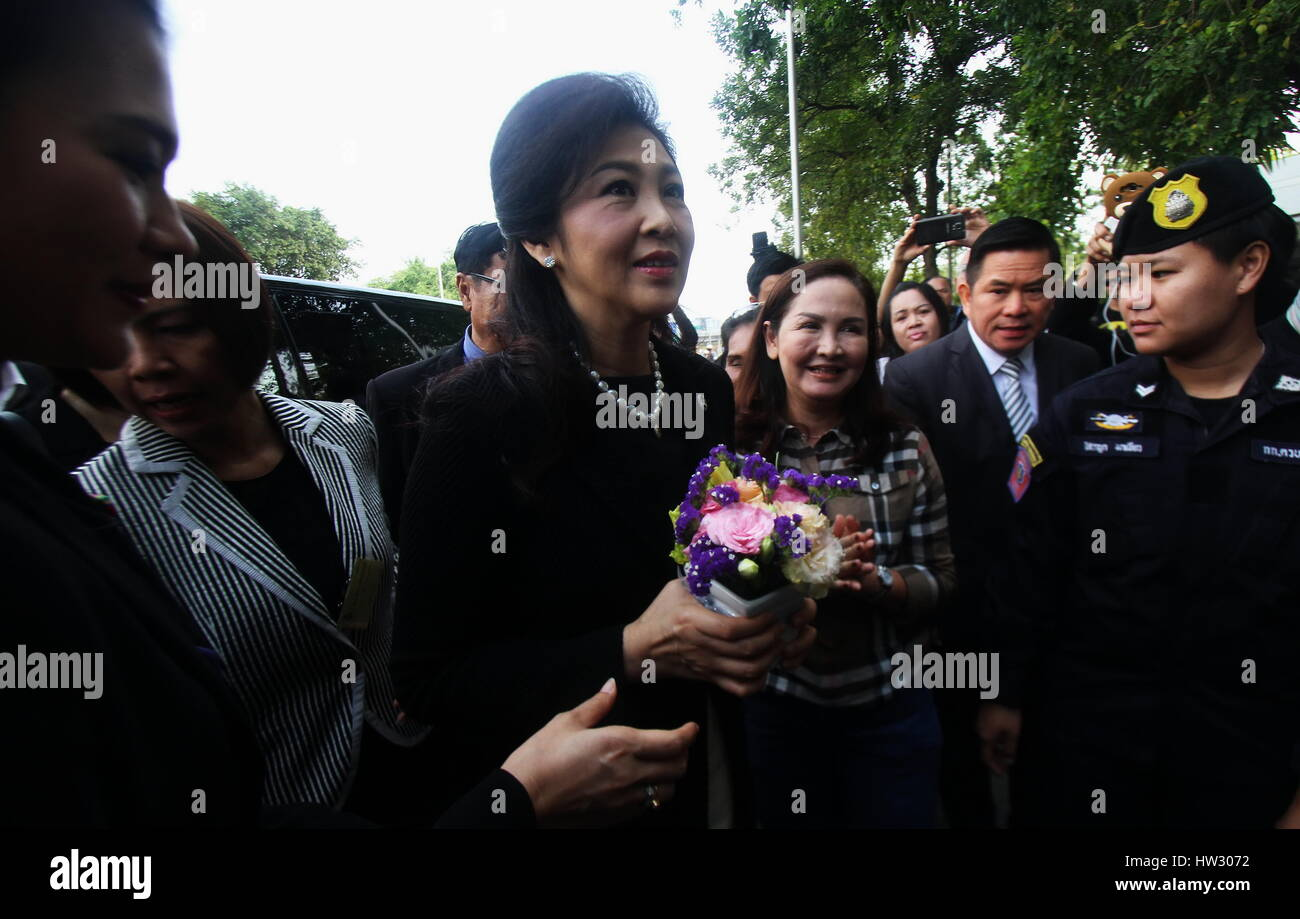17 March 2017, 09:00 AM - Yingluck Shinawatra, Former Prime Minister of Thailand attended an inquisition of witness - Stock Image