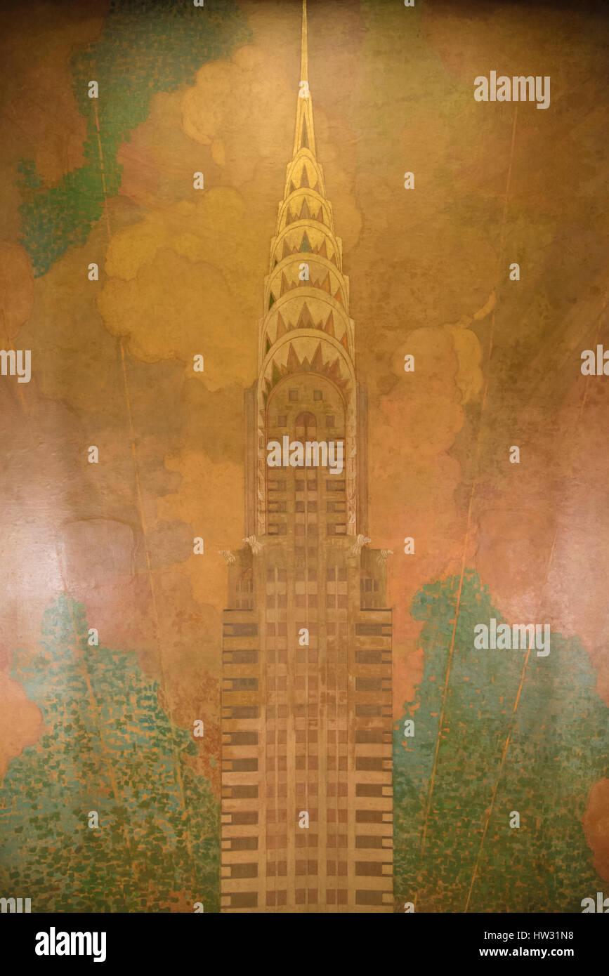 USA, New York, New York City, Manhattan, Chrysler Building - Stock Image
