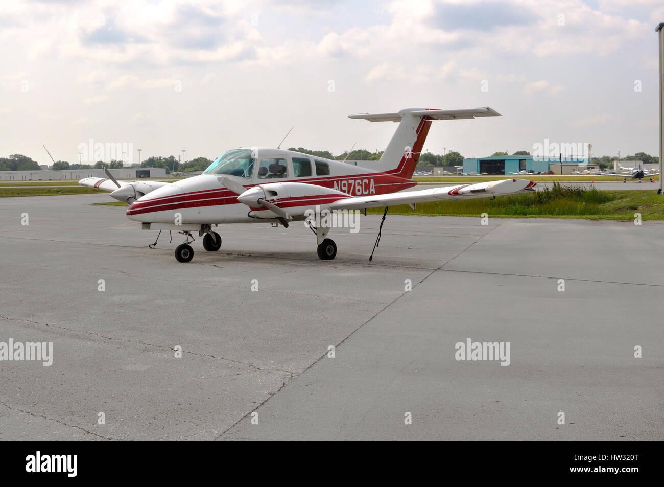Duchess Beechcraft 76, Kissimmee, Florida Stock Photo