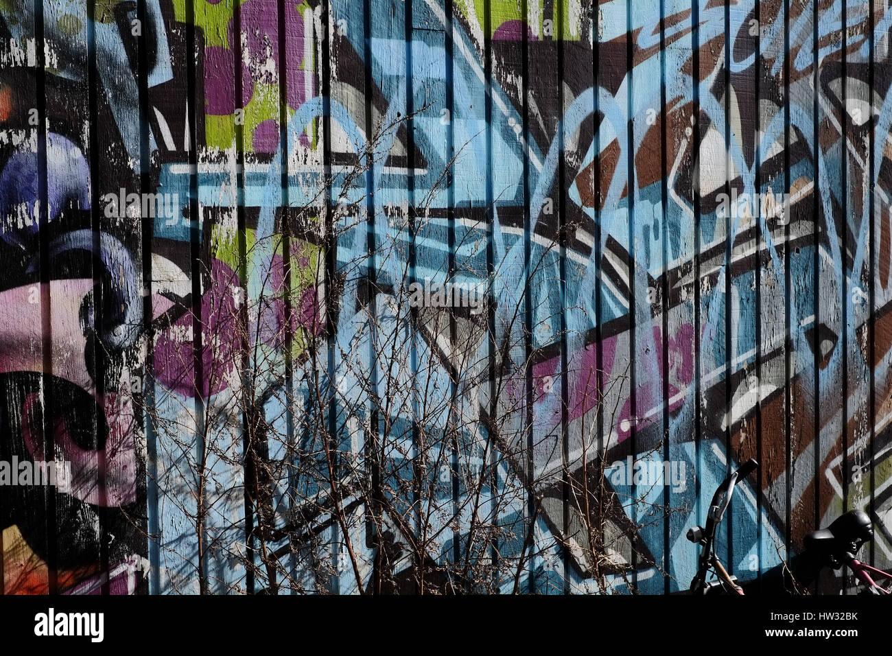 Grafitti in Copenhagen, Denmark Stock Photo