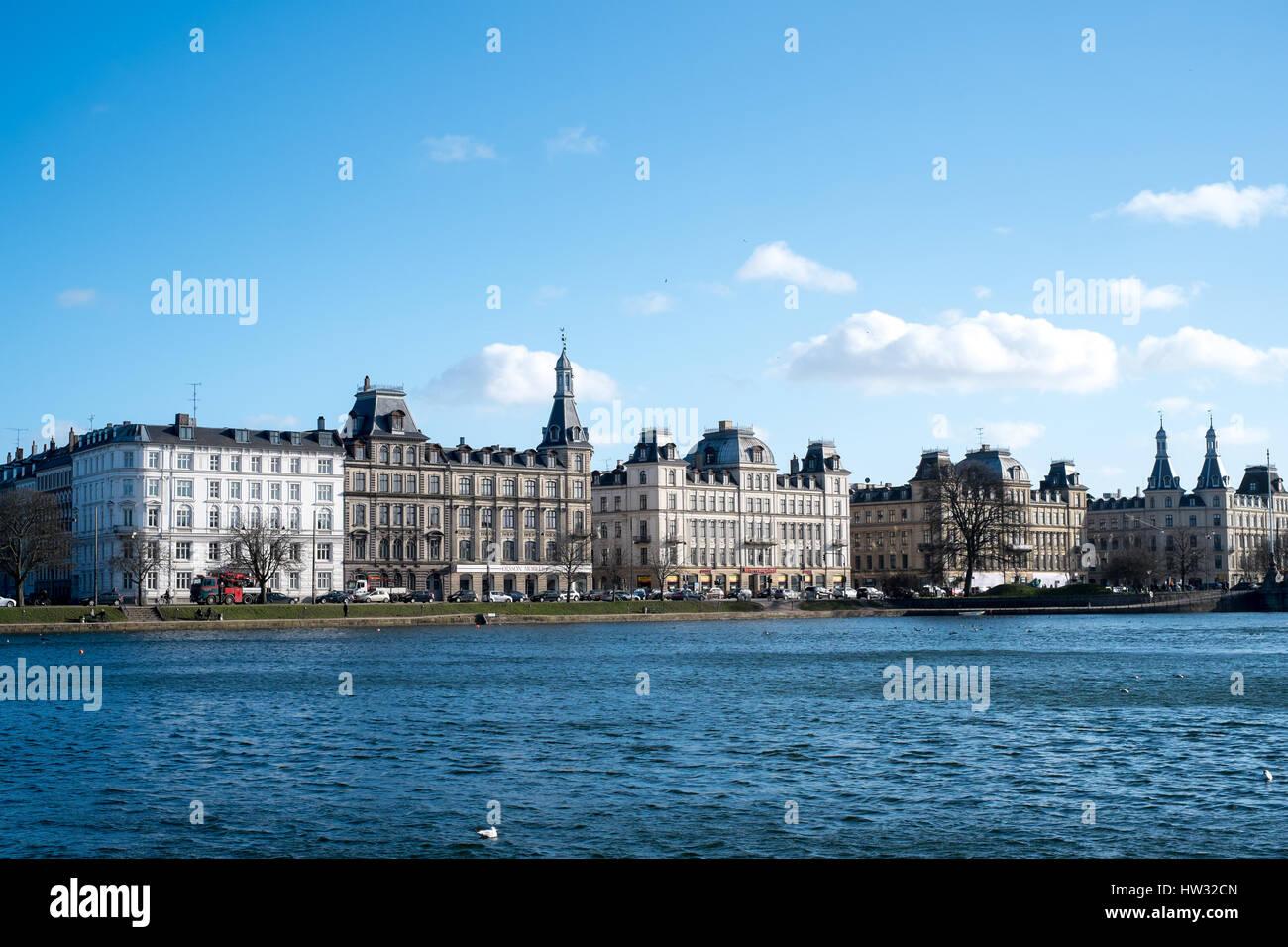 Søerne (The Lakes), Copenhagen, Denmark - Stock Image