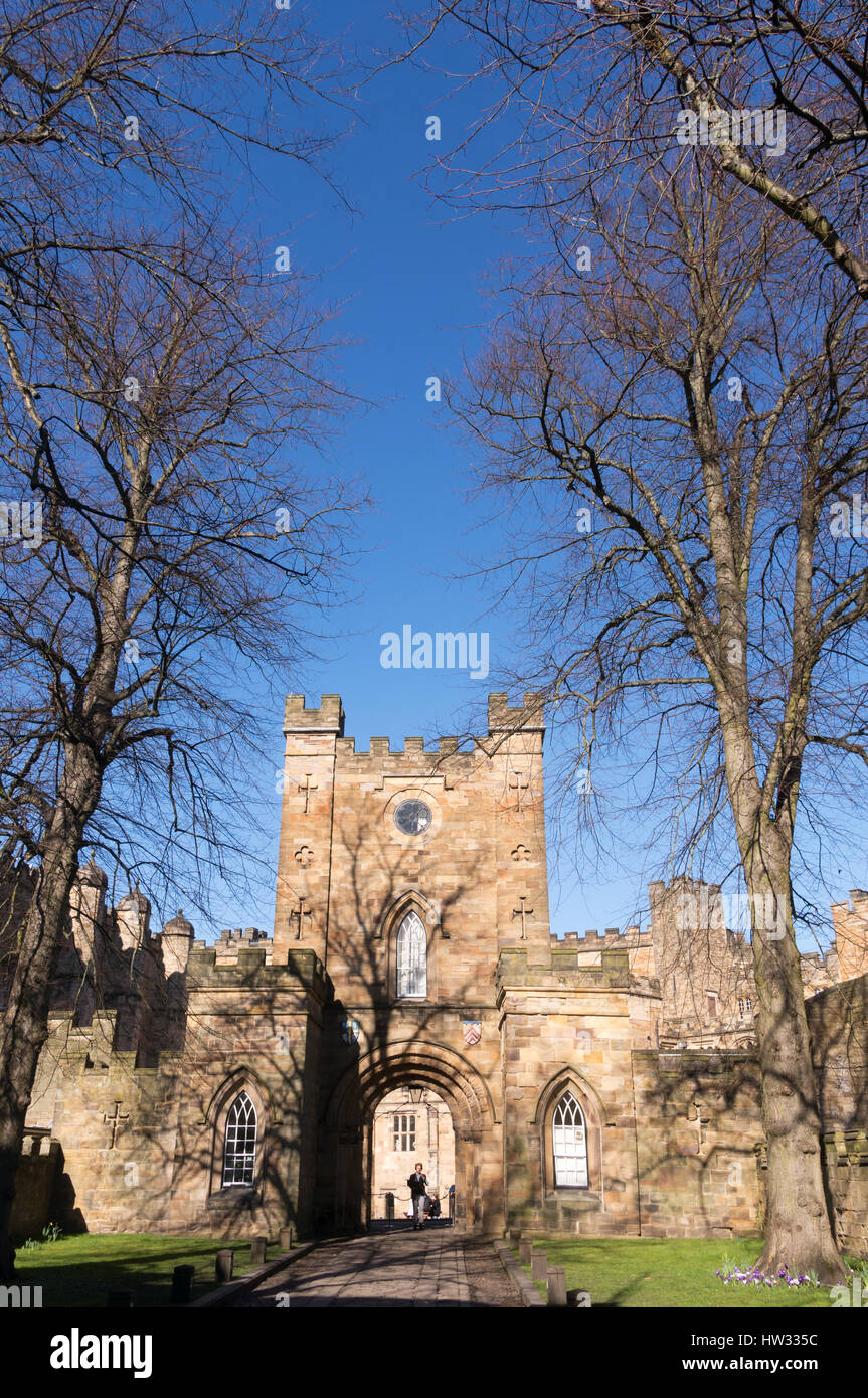 The entrance to Durham University students accommodation at the castle, England, UK - Stock Image
