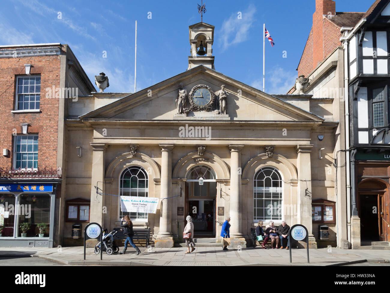 Tewkesbury Town Hall, Tewkesbury, Gloucestershire England UK - Stock Image