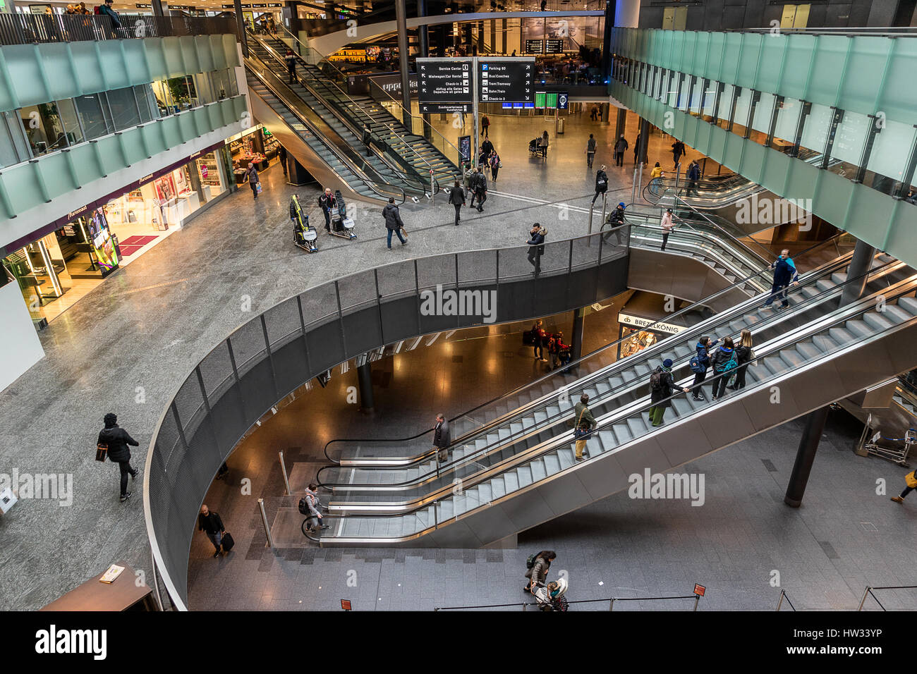 Zurich International Airport in Switzerland - Stock Image