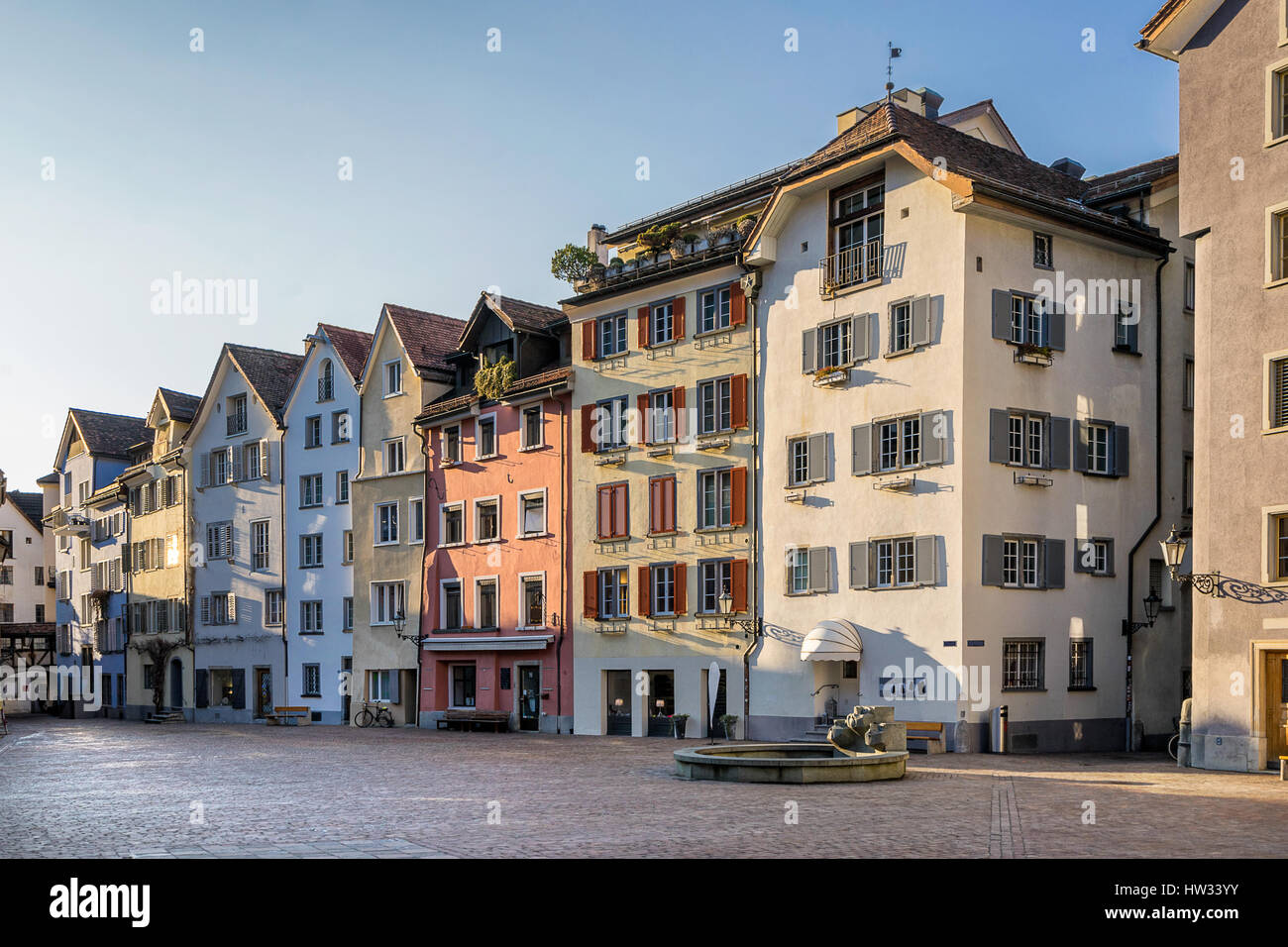 Chur in south east Switzerland - Stock Image