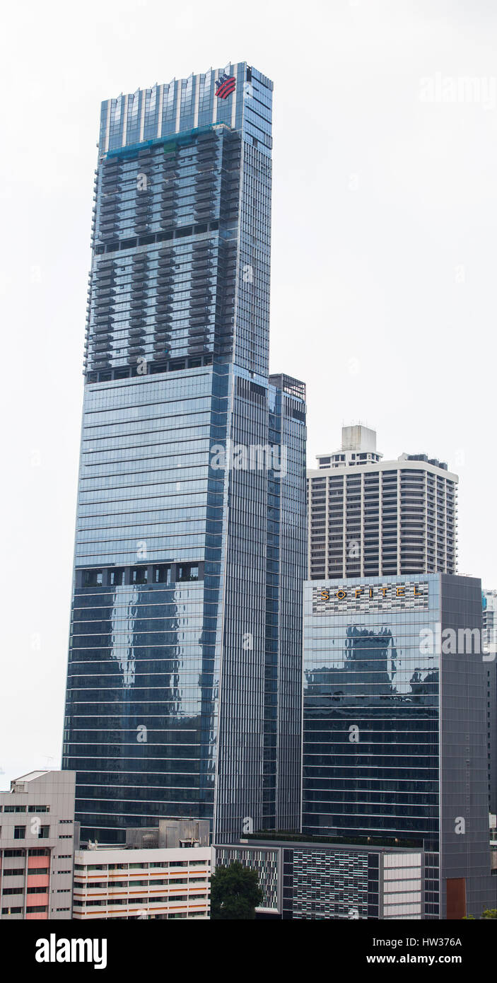 Tanjong Pagar Centre is Singapore highest commercial building. - Stock Image