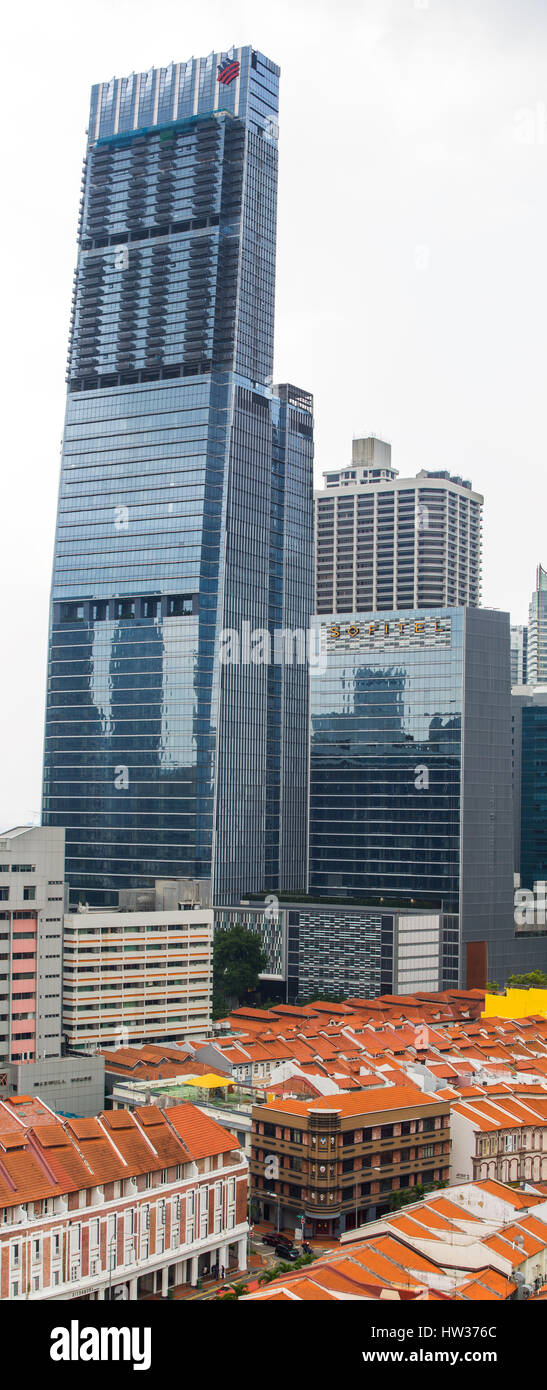 Tanjong Pagar Centre is Singapore tallest commercial building. - Stock Image