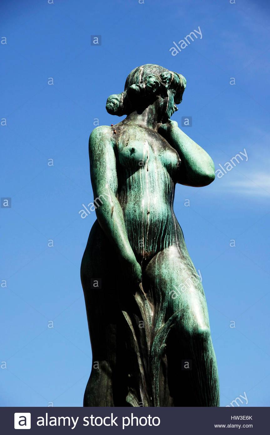 Helsinki, statue - Stock Image