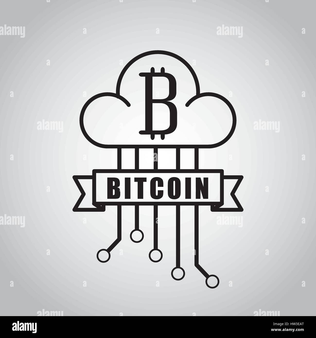 bitcoin virtual coin design - Stock Image