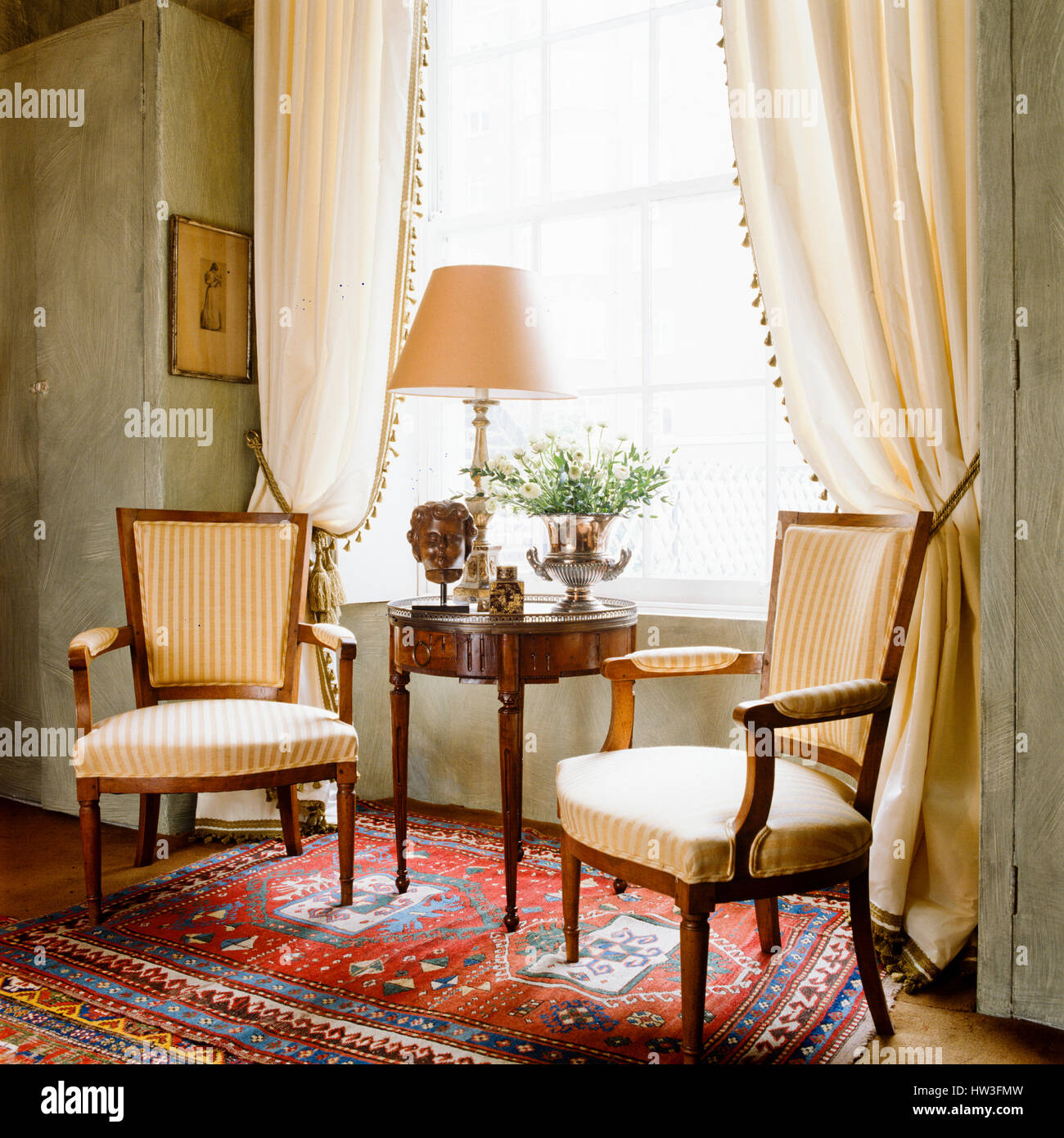 Regency Style Living Room Stock Photo 135917177 Alamy