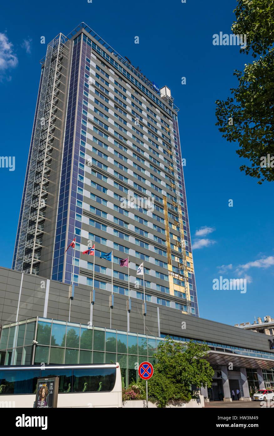 Radisson Blu Hotel in Riga, capital city of Republic of Latvia - Stock Image