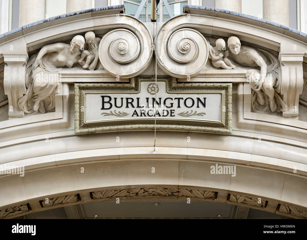 Burlington Arcade, Piccadilly, London, UK. Stock Photo