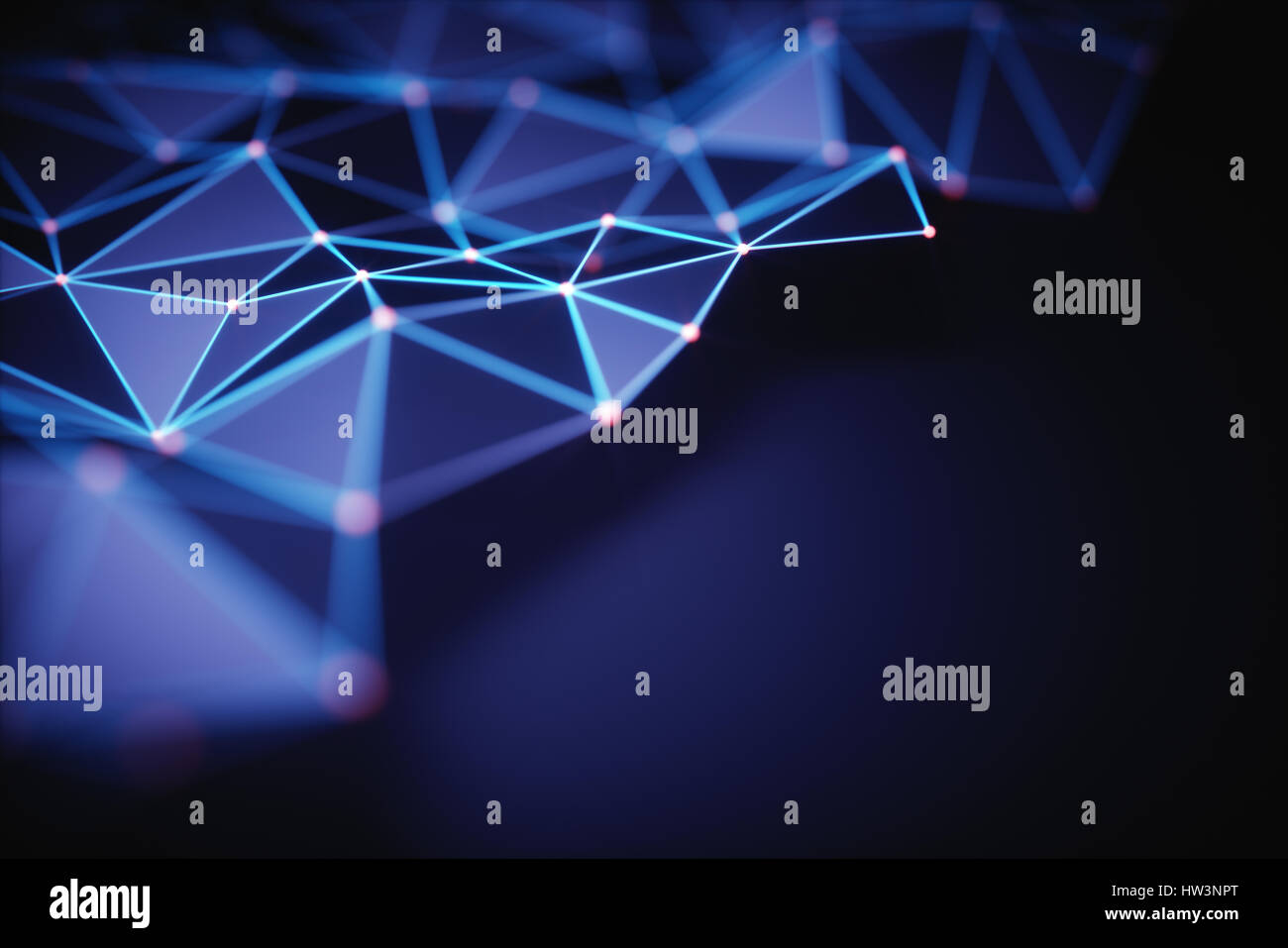 3D illustration. Abstract background, connection and lines of technology. Stock Photo
