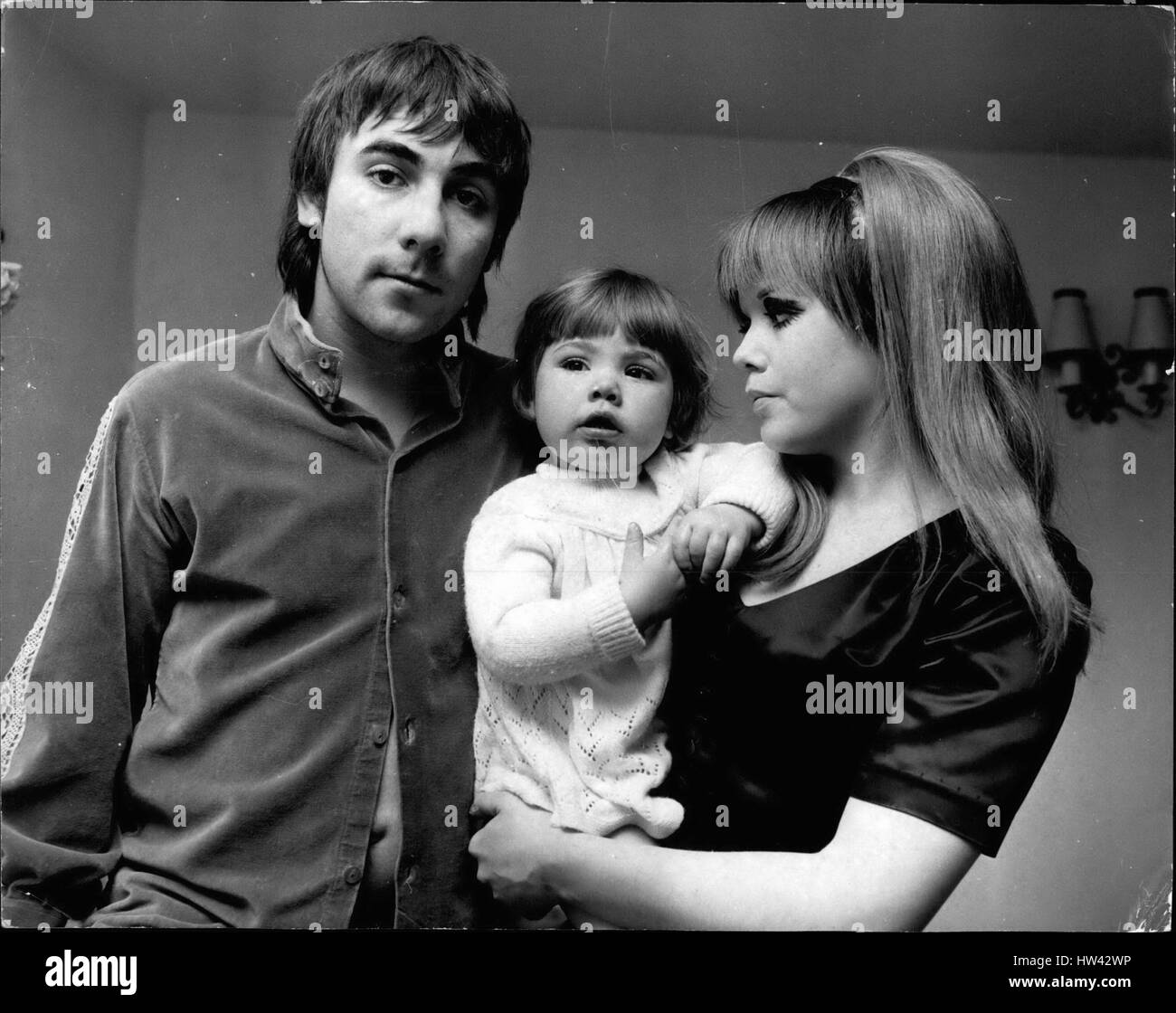 Jan. 01, 1970 - Man died under Pop star's car.: A man was pinned beneath a Bentley car belonging to Keith Moon, - Stock Image