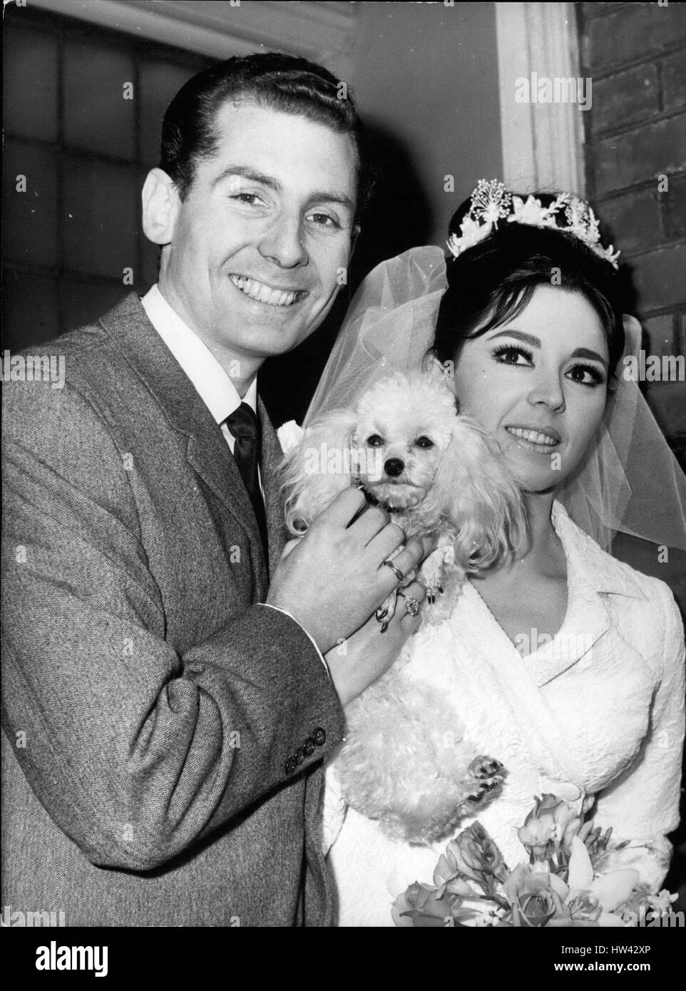 Feb. 02, 1965 - Susan Maugham the pop singer weds at the Hampstead Register Office: Singer Susan Maughan who made Stock Photo