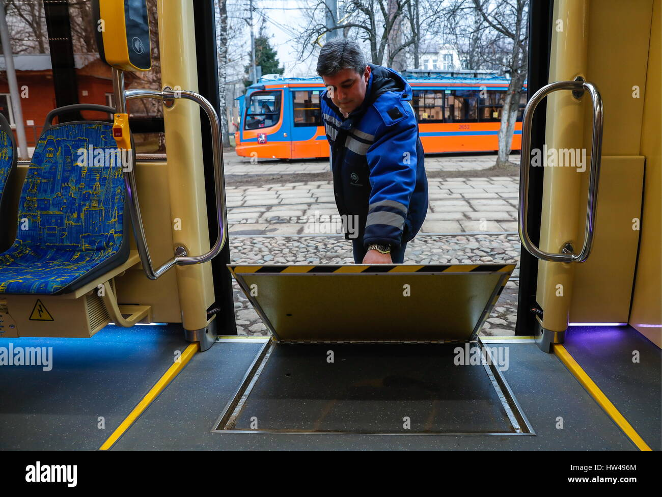 Moscow Russia 17th Mar 2017 A Wheelchair Ramp In A New