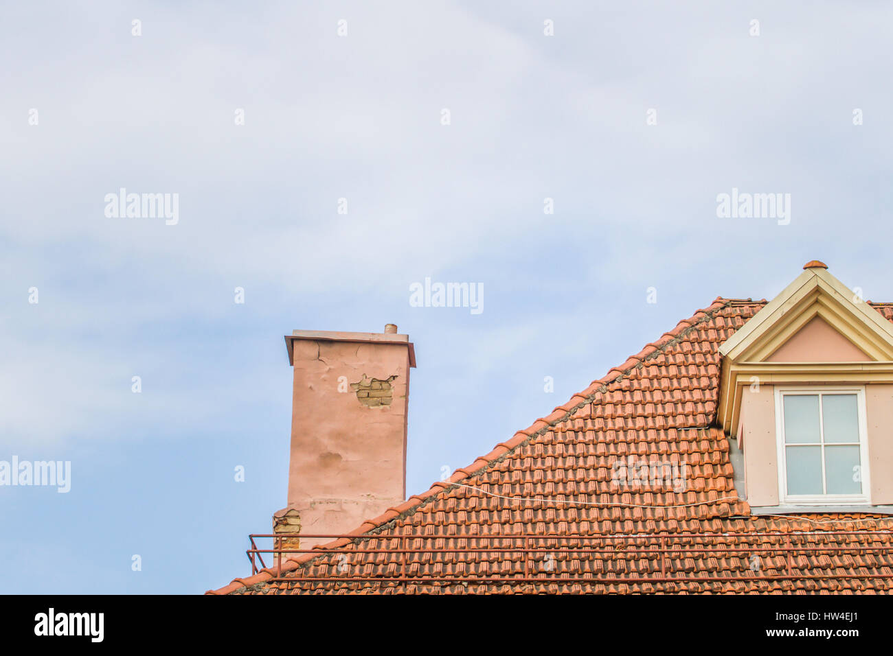 Rooftop Roof View Chimney Stock Photos Amp Rooftop Roof View