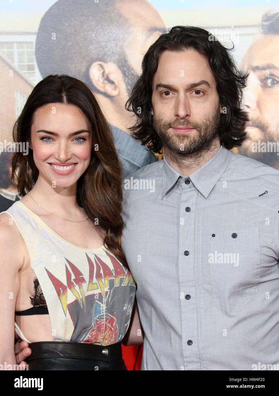 Premiere Of Warner Bros. Pictures' Fist Fight'  Featuring: Cassi Colvin, Chris D'Elia Where: Westwood, - Stock Image