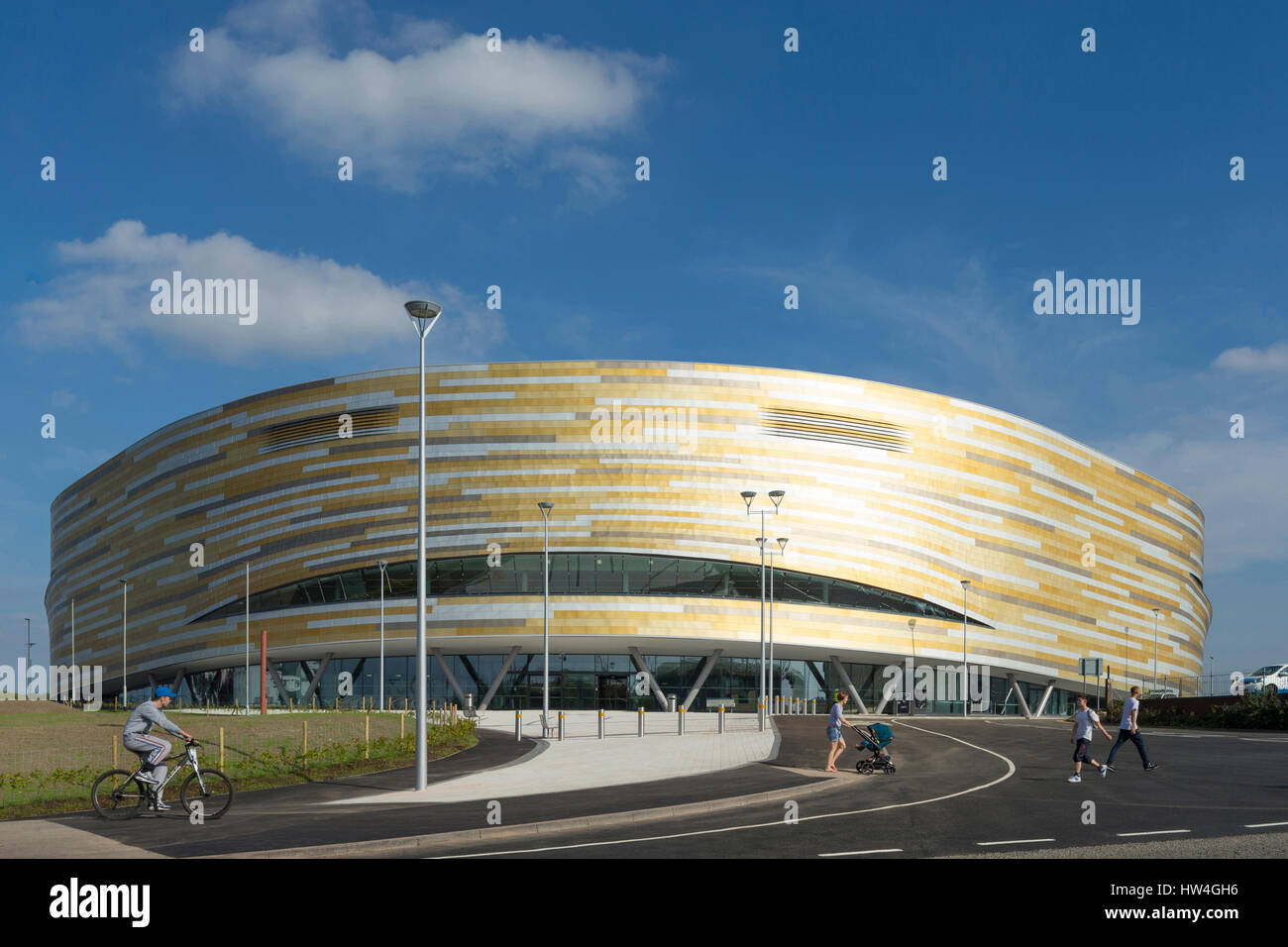 Exterior view of Derby Arena, UK. - Stock Image