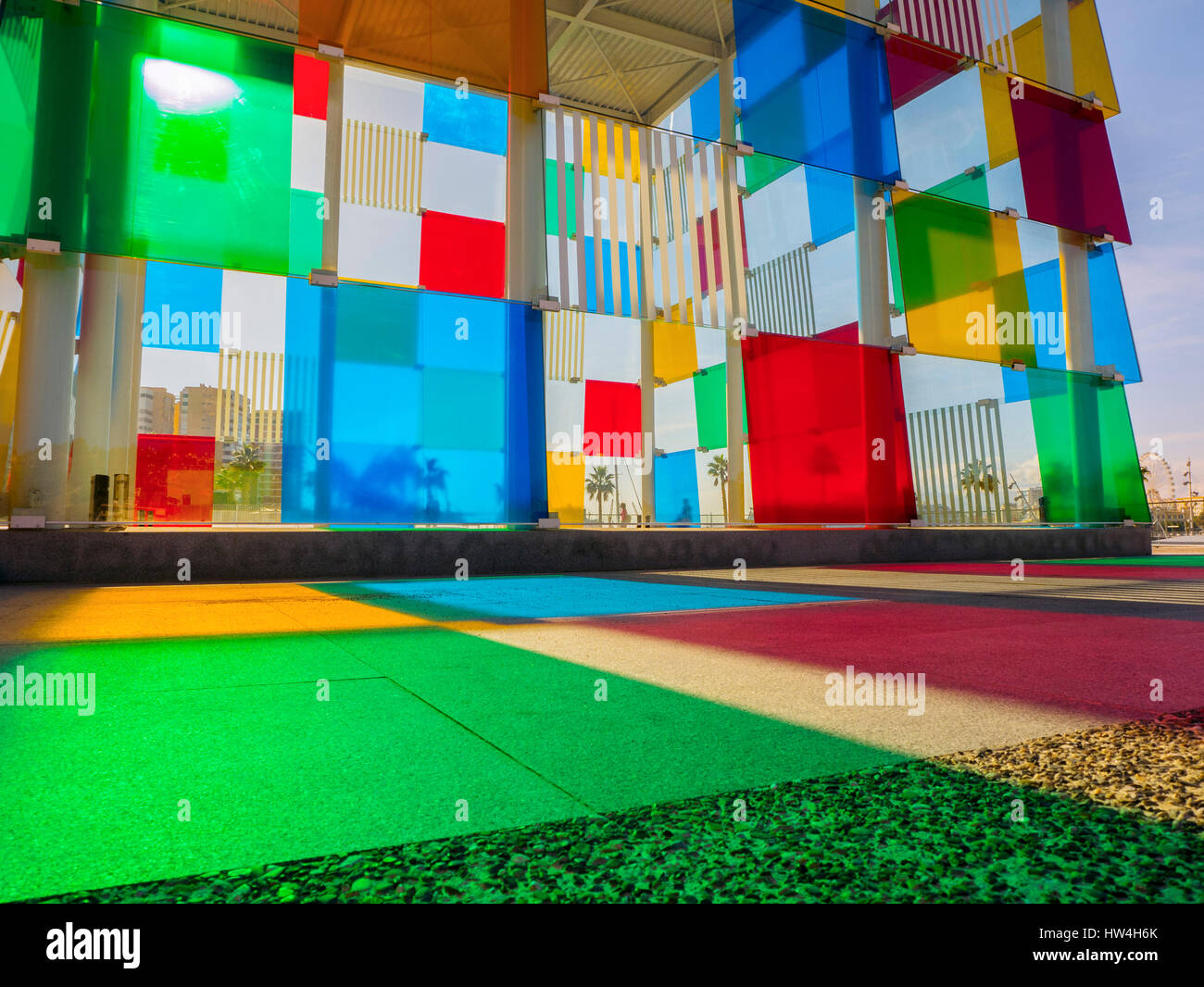 Centre Pompidou Museum modern art. Costa del Sol, Malaga. Andalusia southern Spain. Europe - Stock Image