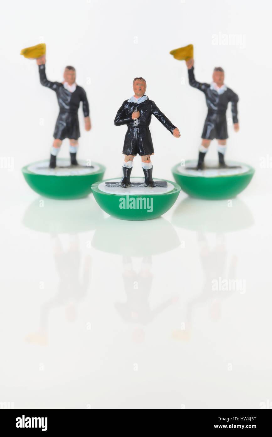 Subbuteo table football toy referee - Stock Image