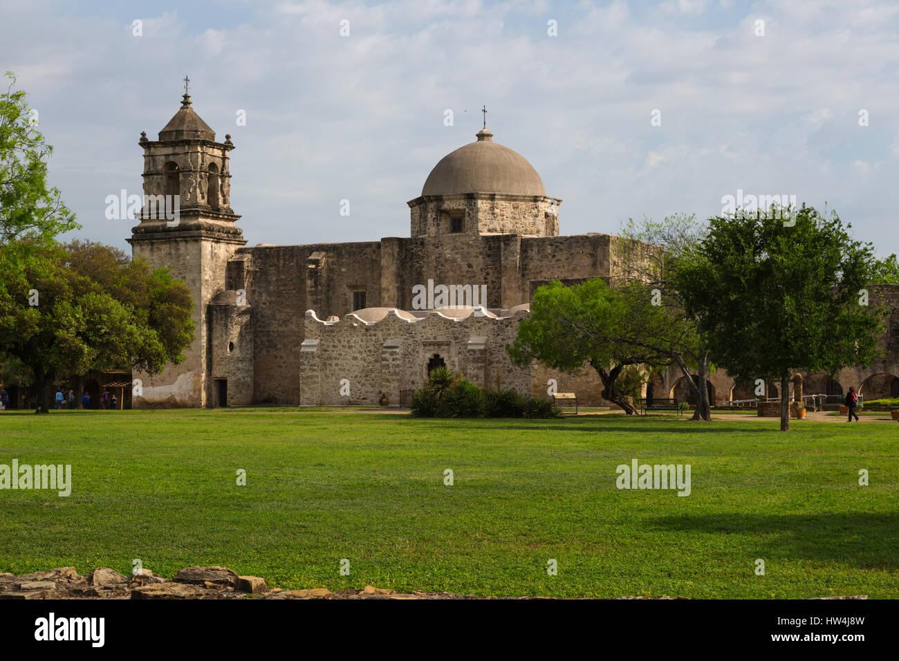 Mission San Jose, San Antonio Missions, TX, USA - Stock Image