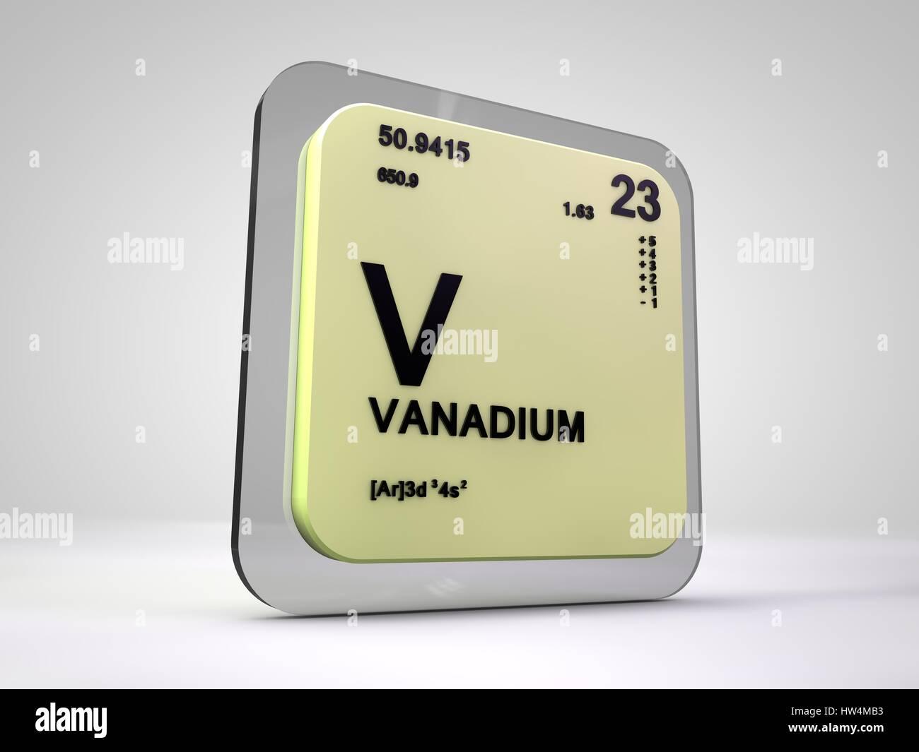 Vanadium v chemical element periodic table 3d render stock photo vanadium v chemical element periodic table 3d render urtaz Choice Image