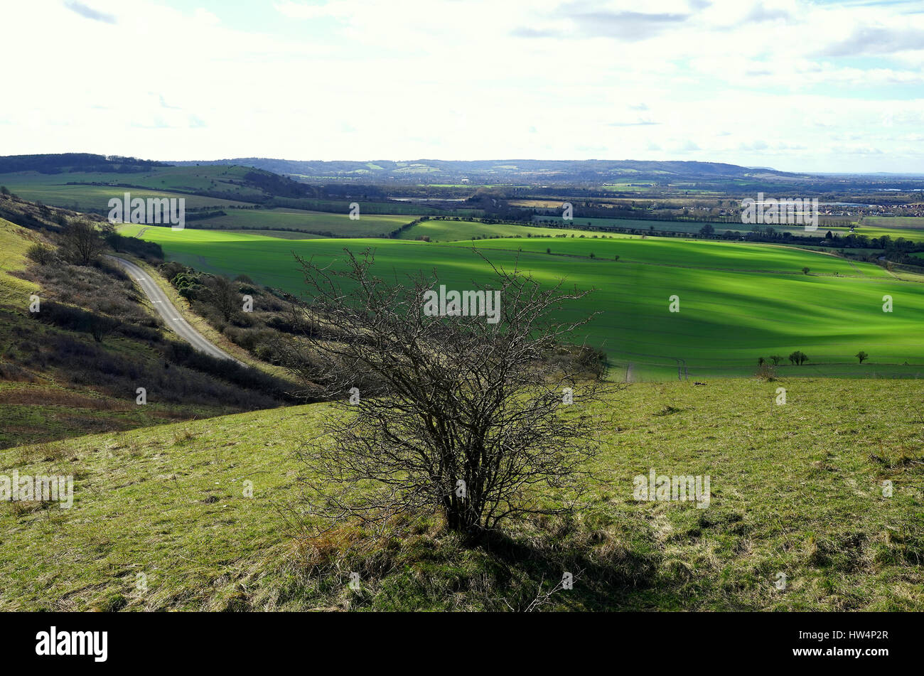 A view from Ivinghoe Beacon - Stock Image