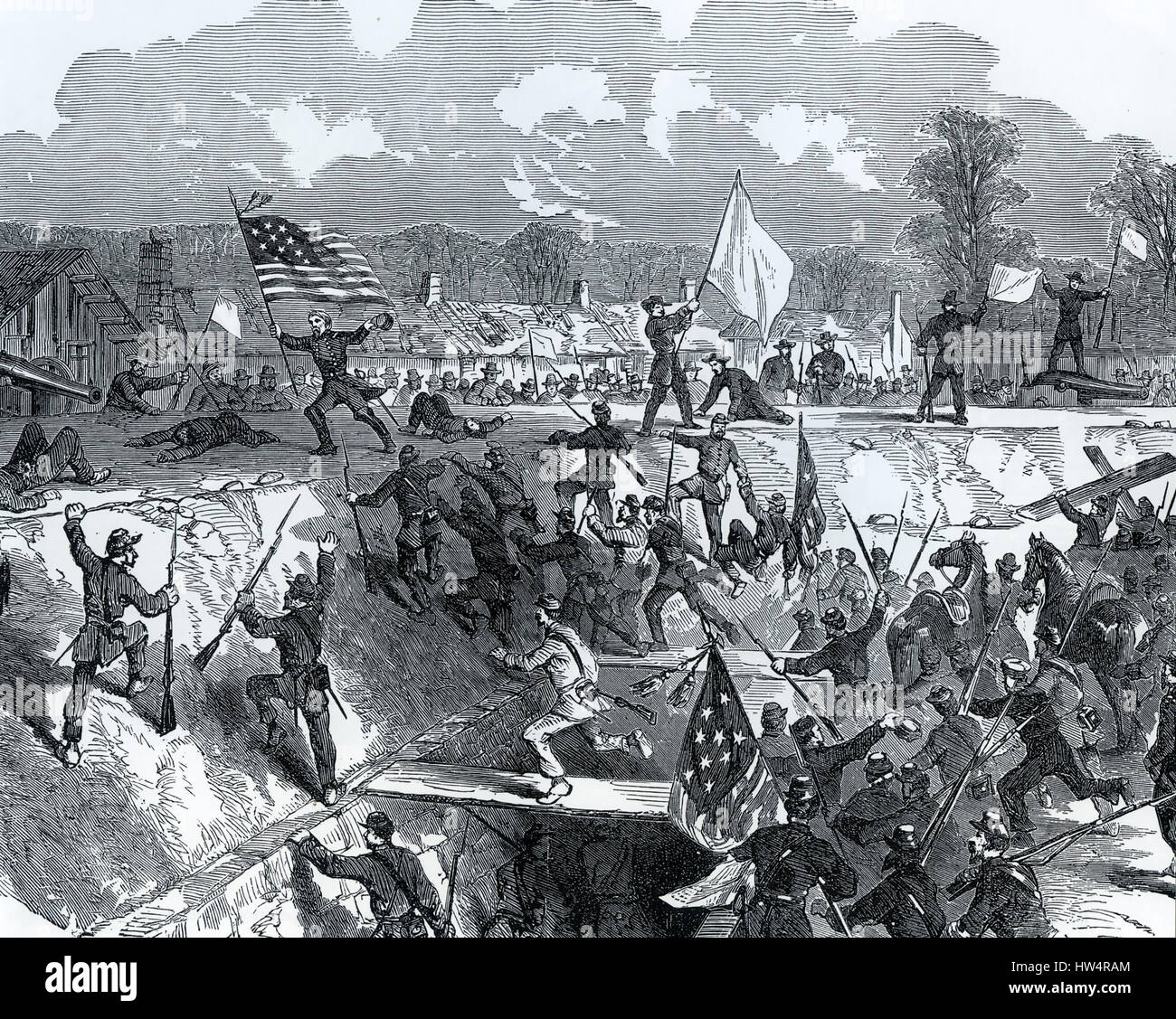 FORT HINDMAN, Arkansas, is captured by union forces on 11 January 1863 during the American Civil War - Stock Image