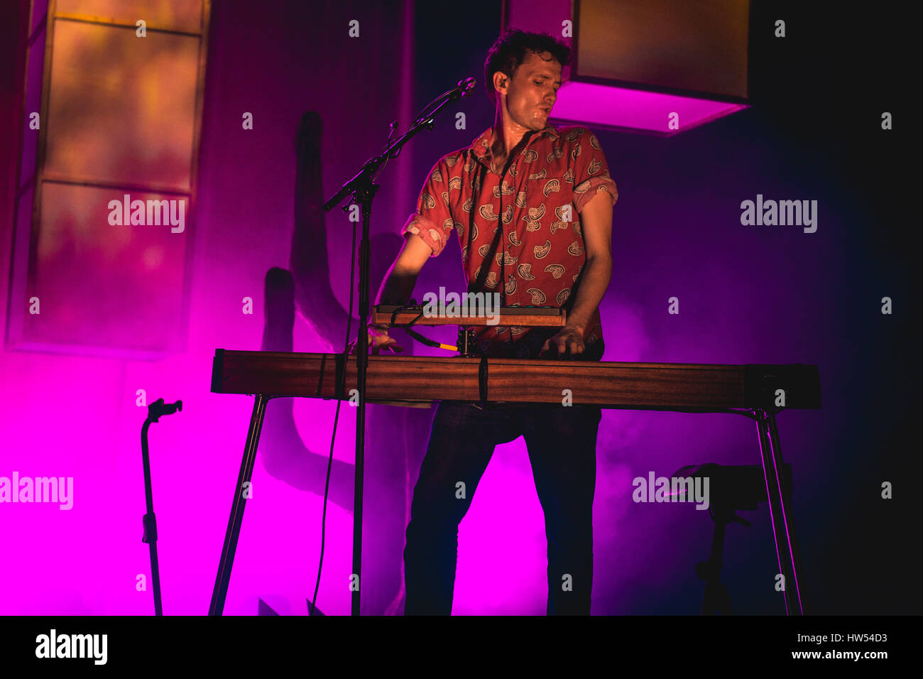 Glass Animals performing at London, Brixton 02 Academy - 16 March 2017 - Stock Image