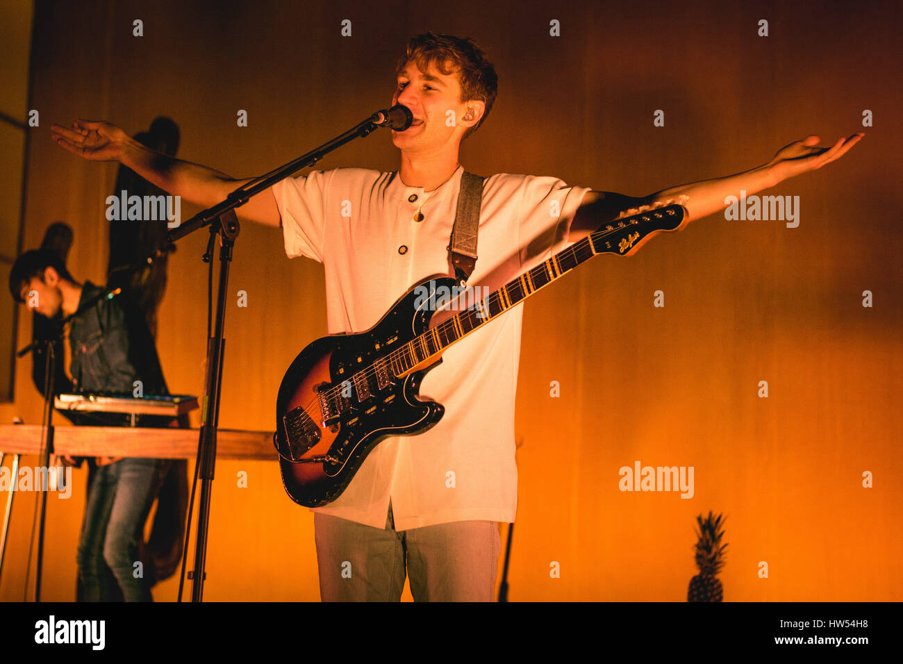 Glass Animals performing at London, Brixton 02 Academy - 16 March 2017 Stock Photo