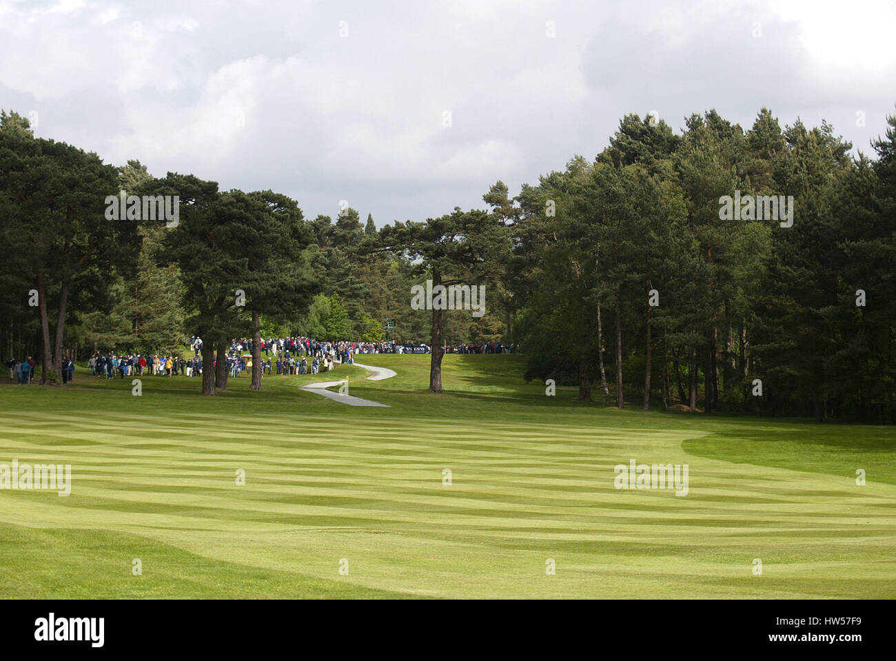 12TH FAIRWAY WEST COURSE WENTWORTH WENTWORTH GOLF CLUB VIRGINIA WATER ENGLAND 25 May 2002 - Stock Image