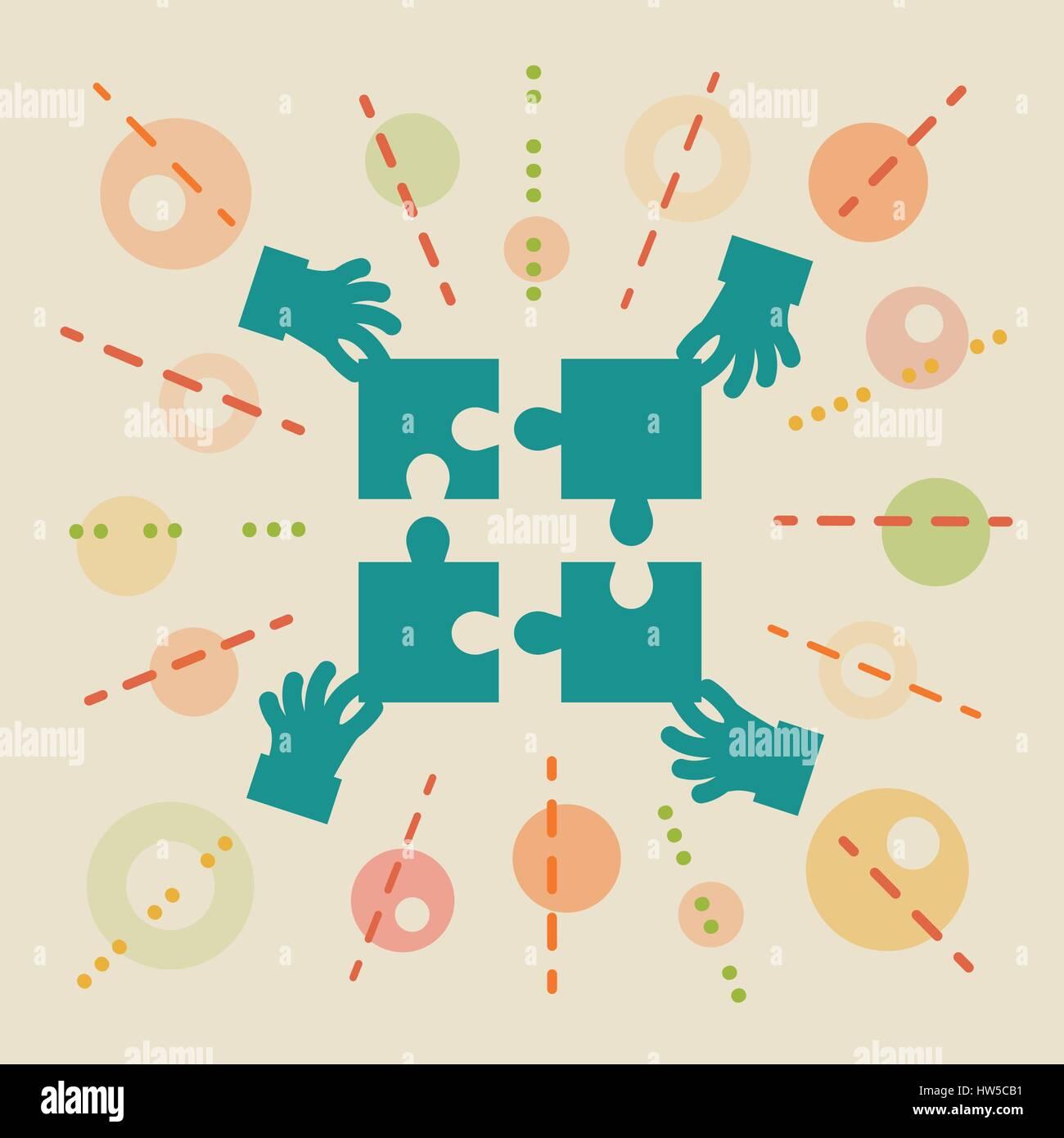 Teamwork. Concept business illustration Stock Vector