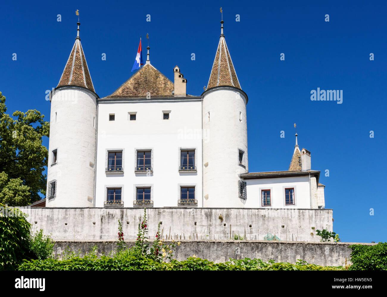 Nyon Castle, Nyon, Switzerland - Stock Image