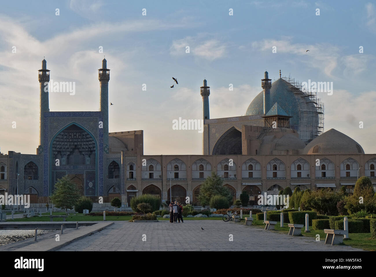Details of Sheikh Lotfollah Mosque in Isfahan, Iran, Iran's World Heritage - Stock Image