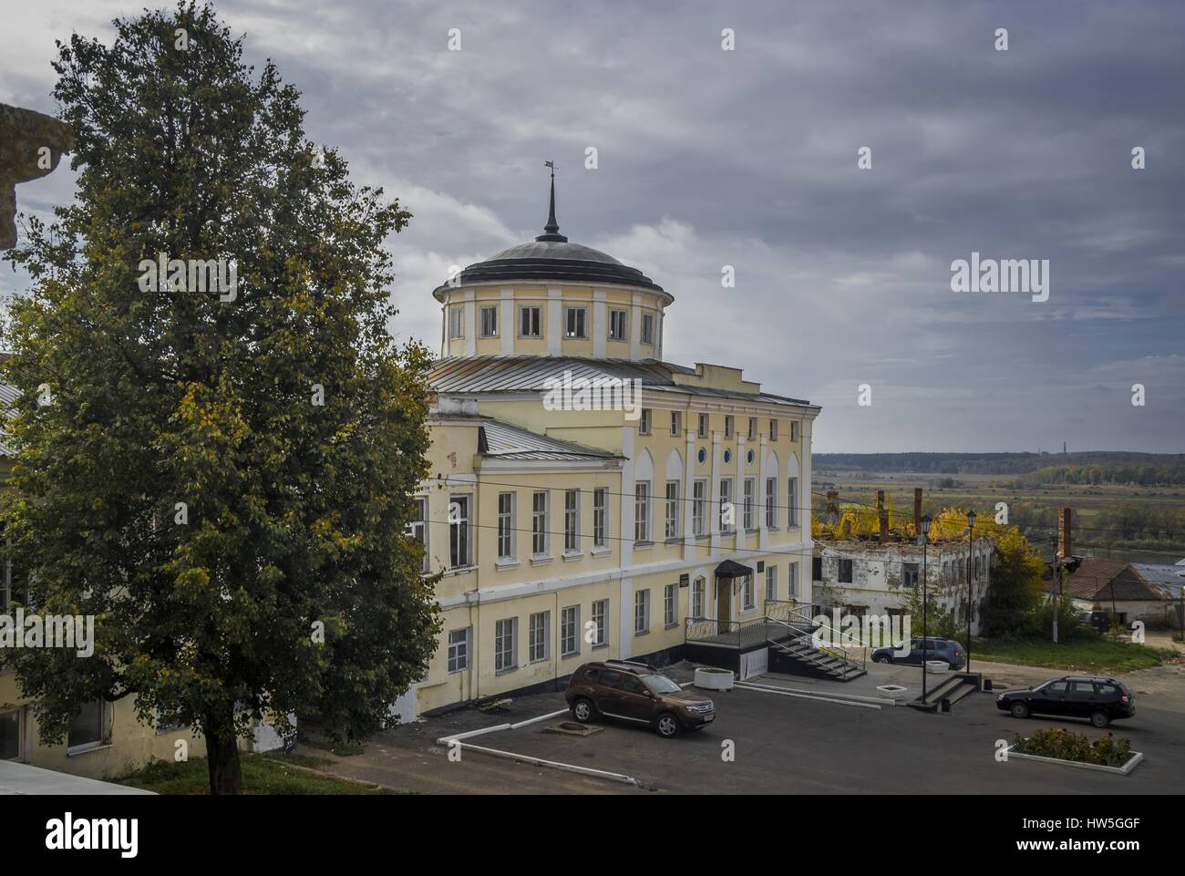 Russia, Ryazan Region, Kasimov. Sobornaya Square. Kasimov Historical and Cultural Museum-Reserve (former house of - Stock Image