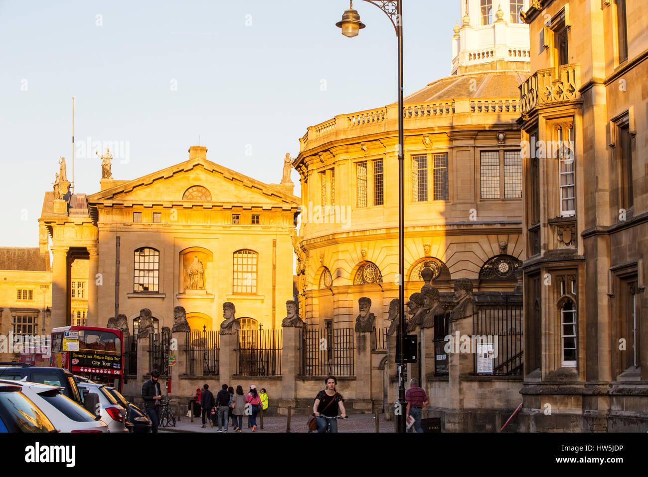The Sheldonian Theatre and the Clarendon Building in Oxford, UK. Stock Photo