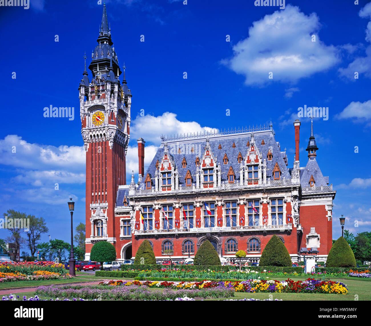 The Town Hall, Calais, Pas de Calais, France. - Stock Image