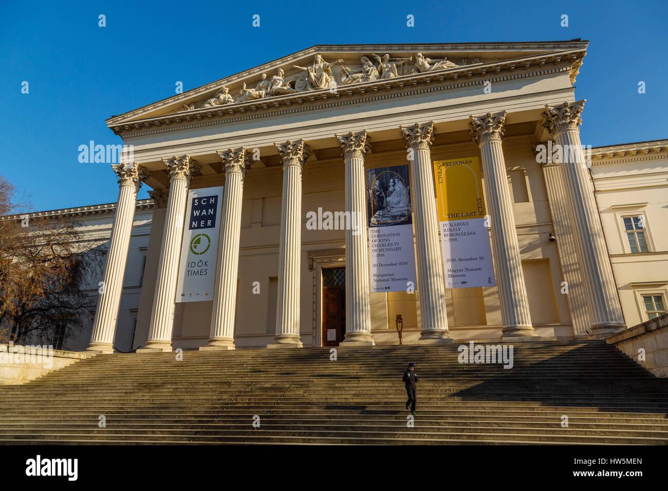 National Museum. Budapest Hungary, Southeast Europe Stock Photo
